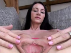 Orgasm starved brunette...